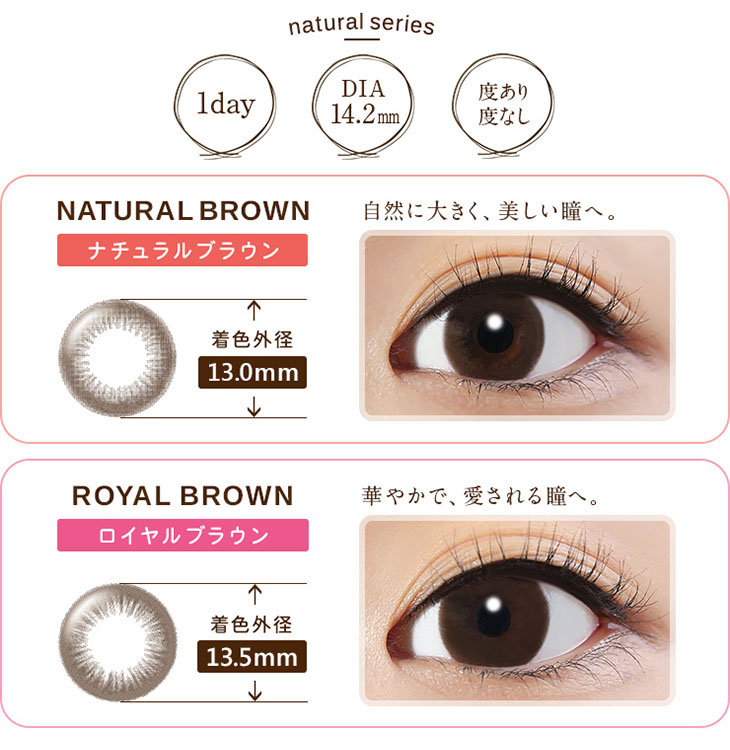 natural series 1day DIA14.2mm 度あり度なし